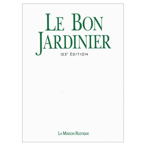 BON JARDINIER 3VOLS (153EME EDITION)