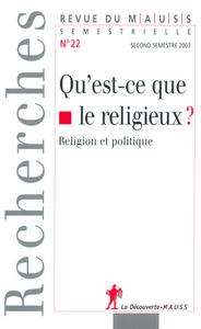 QU EST CE QUE LE RELIGIEUX