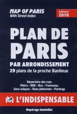 R14 PLAN DE PARIS PAR ARRONDISSEMENTS BLEU