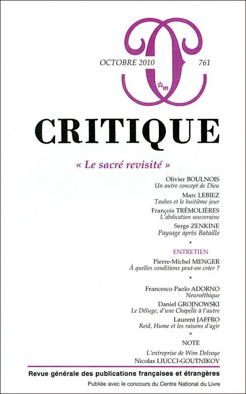 REVUE CRITIQUE 761