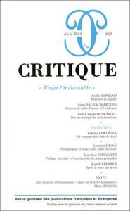 REVUE CRITIQUE 804