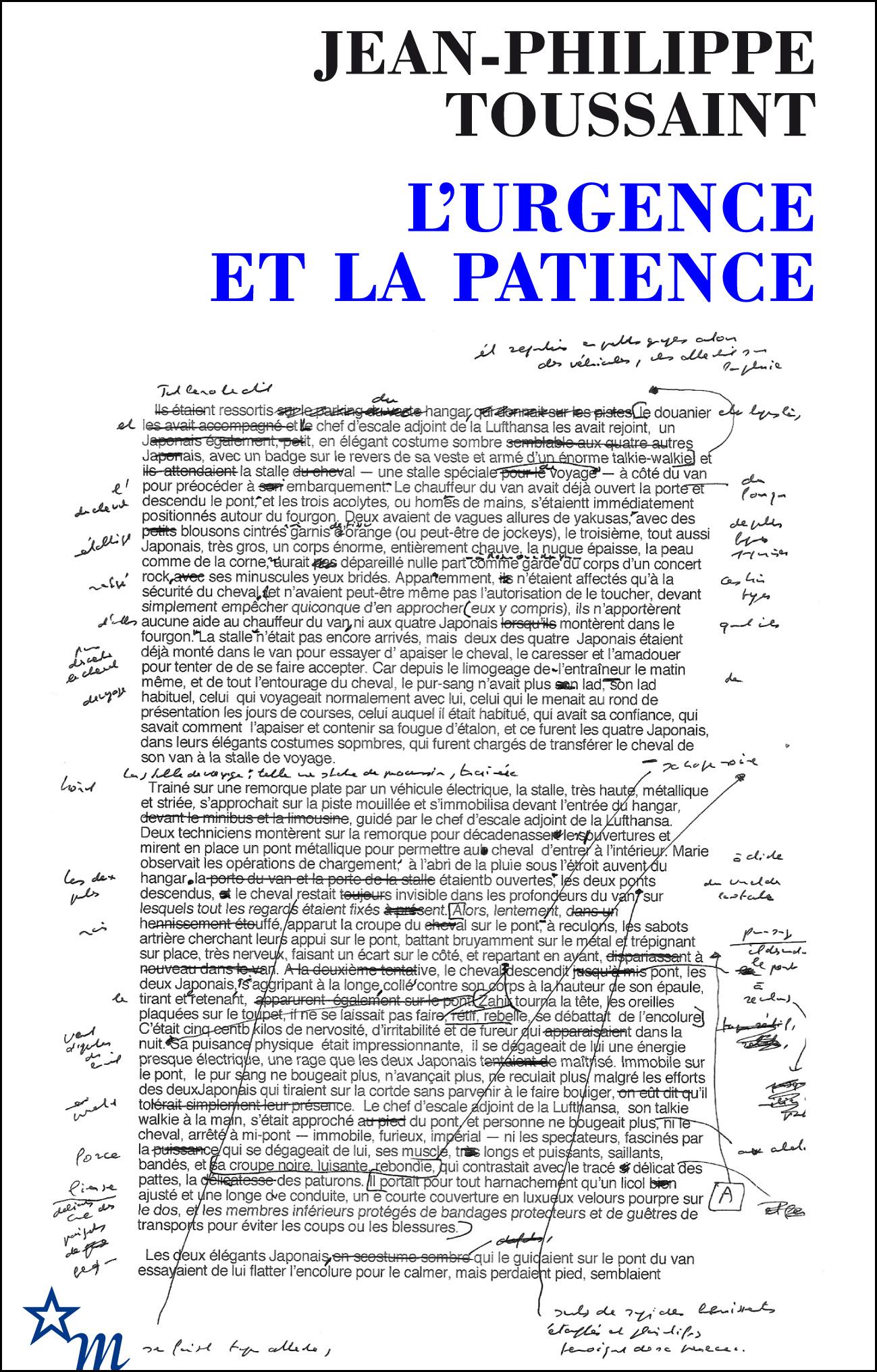 L URGENCE ET LA PATIENCE