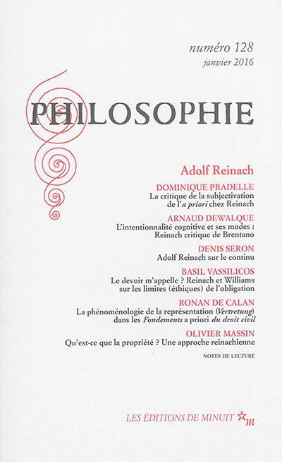 PHILOSOPHIE 128 ADOLF REINACH