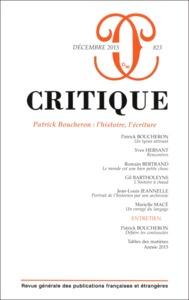 CRITIQUE 823 PATRICK BOUCHERON L HISTOIRE L ECRITURE