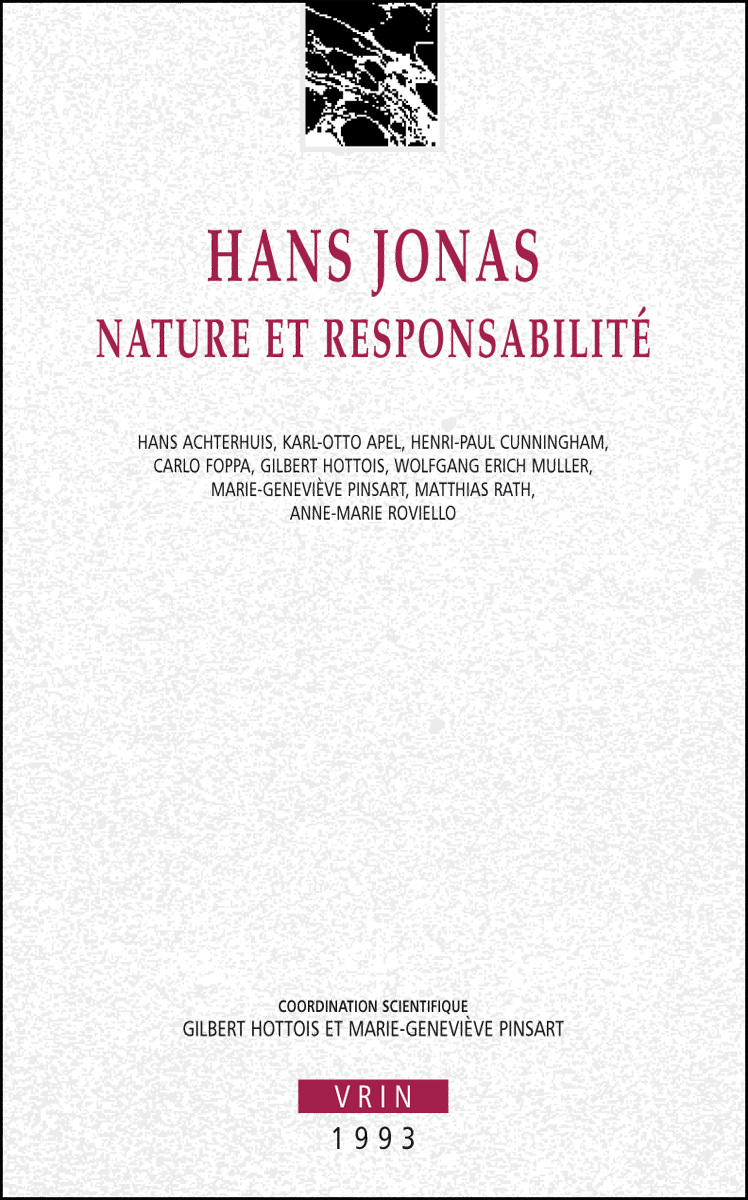 HANS JONAS NATURE ET RESPONSABILITE