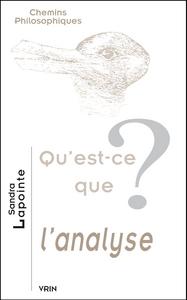 QU EST-CE QUE L ANALYSE?