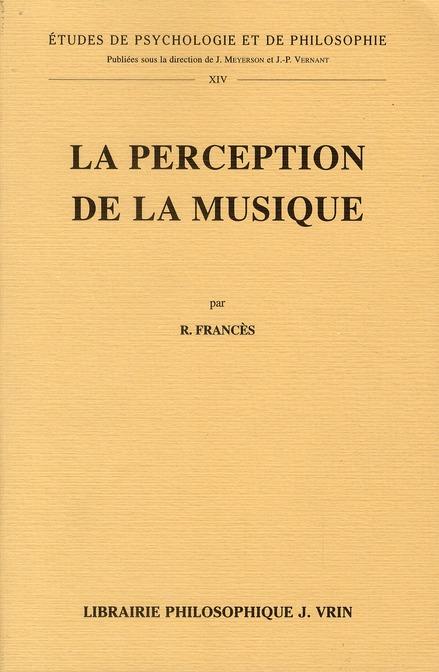 LA PERCEPTION DE LA MUSIQUE
