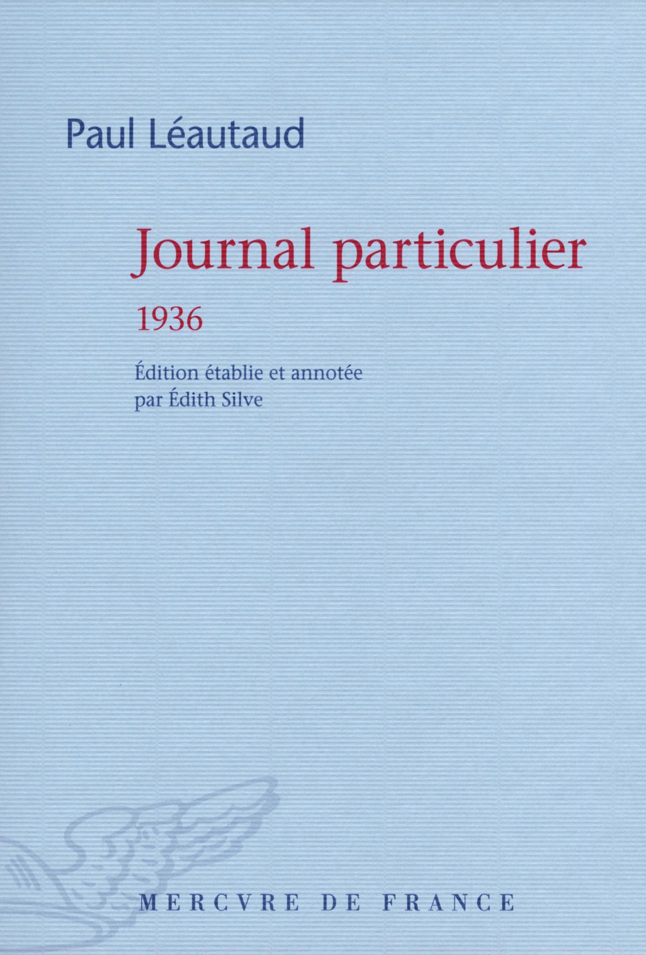 Journal particulier. 1936