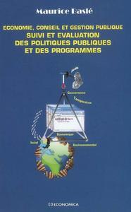 ECONOMIE, CONSEIL ET GESTION PUBLIQUE - SUIVI ET EVALUATION DES POLITIQUES PUBLIQUES ET DES PROG