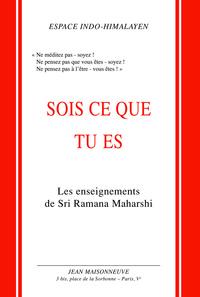 MAHARSHI SOIS CE QUE TU ES ENSEIGNEMENTS DE MAHARSHI. TRAD. DE L'ANGLAIS ET NOTES PAR MAURICE SALEN