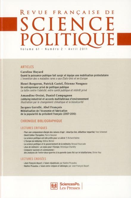 REVUE FRANCAISE DE SCIENCES POLITIQUES 61 T2