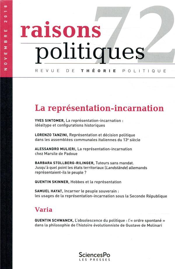 RAISONS POLITIQUES 72