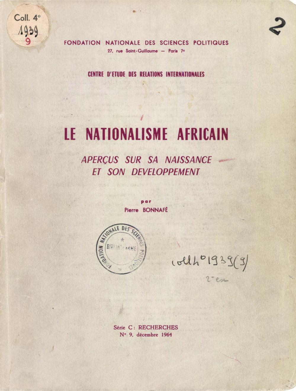 Le nationalisme africain