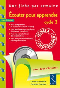 ECOUTER POUR APPRENDRE + 2 CDA
