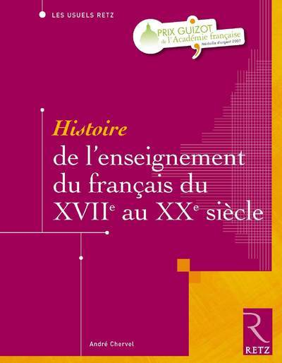 HIST ENSEIGN FRANCAIS XVII XX