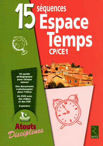 15 SEQUENCES ESPACE TEMPS CP/CE1 + DVD-ROM