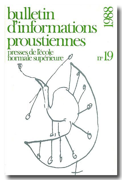 BULLETIN PROUST N 19