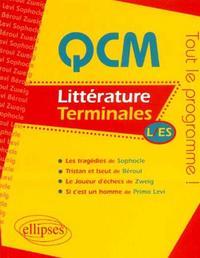 QCM DE LITTERATURE TERMINALES L/ES TOUT LE PROGRAMME SOPHOCLE BEROUL ZWEIG PRIMO LEVI