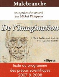 DE L'IMAGINATION - MALEBRANCHE