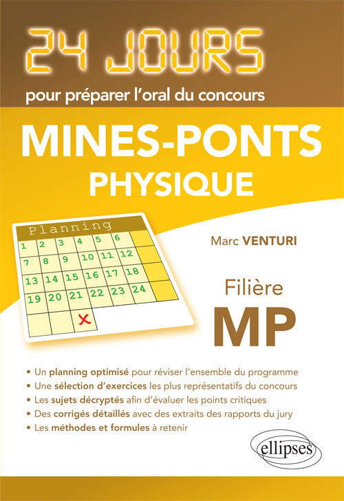 MINES-PONTS PHYSIQUE FILIERE MP