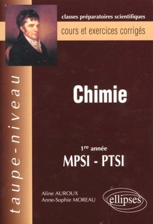 CHIMIE 1RE ANNEE MPSI-PTSI COURS ET EXERCICES CORRIGES