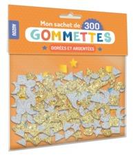 MON SACHET DE 300 GOMMETTES DOREES ET ARGENTEES