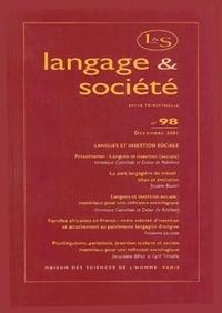 LANGAGE ET SOCIETE, N  98/DEC. 2001