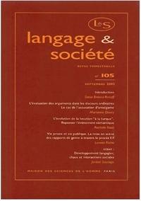 LANGAGE ET SOCIETE, N  105/SEPT. 2003
