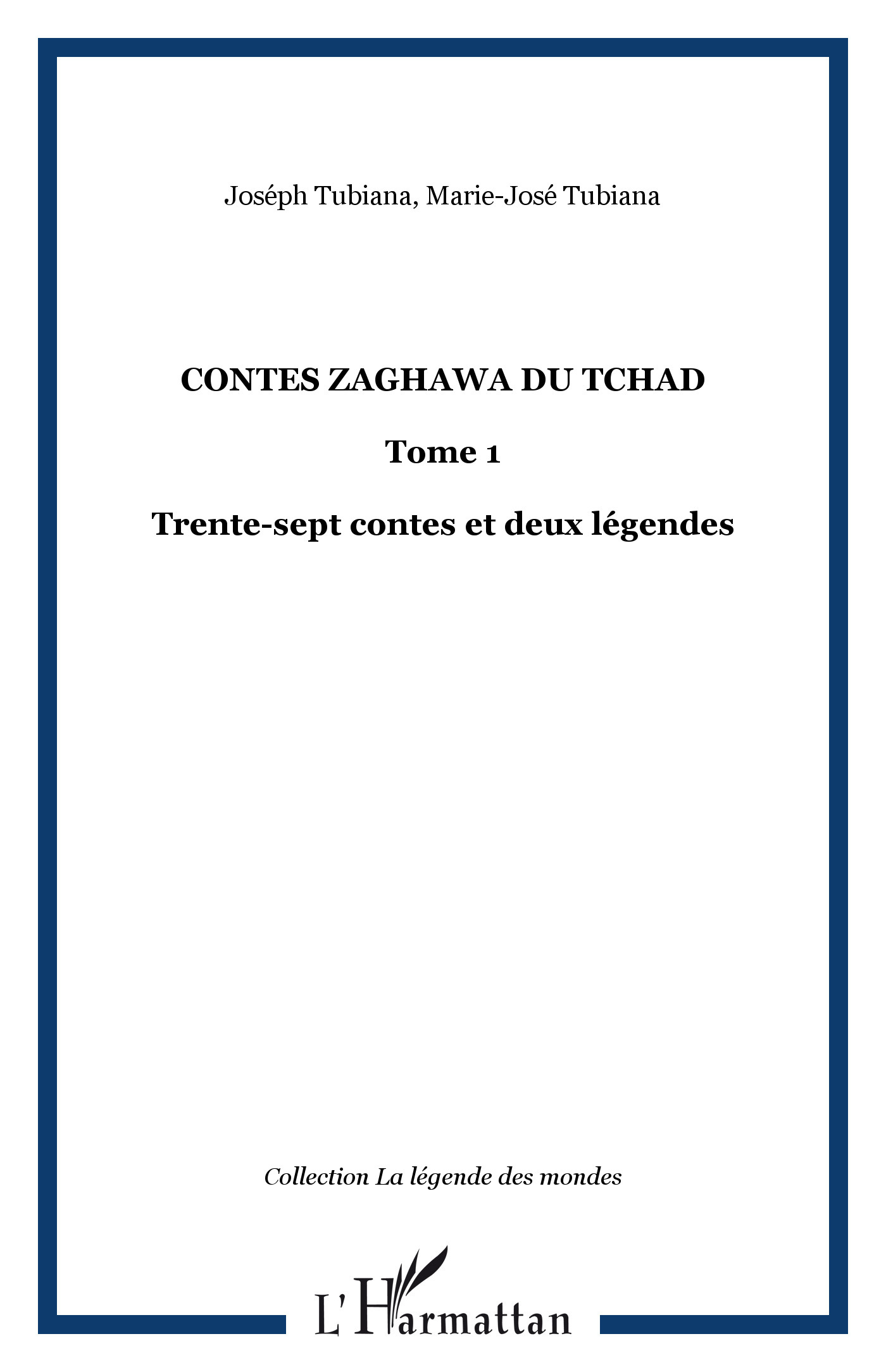 CONTES ZAGHAWA (1) DU TCHAD