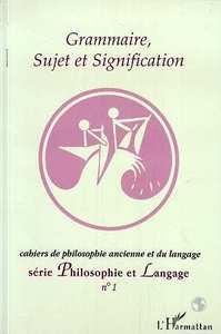 Grammaire, sujet et signification