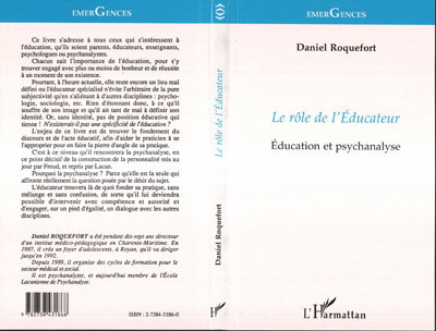 ROLE DE L'EDUCATEUR (LE)  EDUCATION ET PSYCHANALYSE