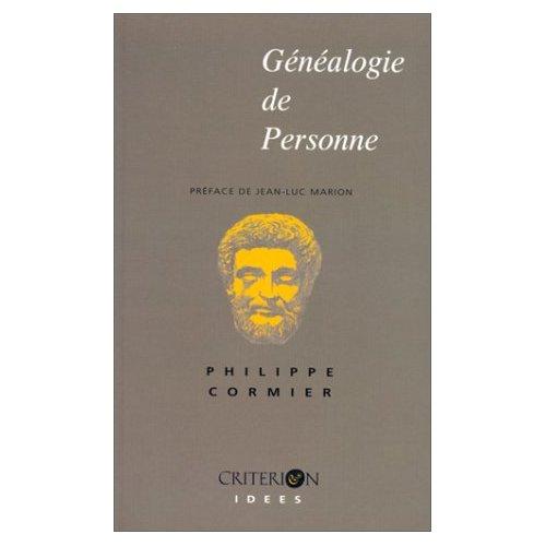 GENEALOGIE DE PERSONNE