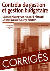 CORRIGES CONTROLE DE GESTION 3 ED.