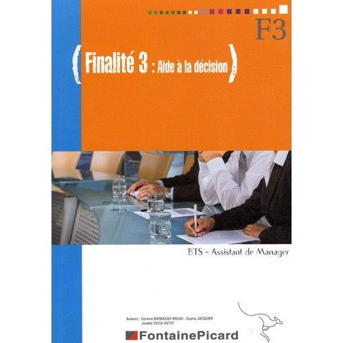 F3 AIDE A LA DECISION BTS ASSISTANT DE MANAGER