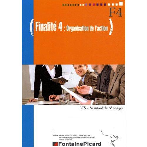 F4 ORGANISATION DE L'ACTION BTS ASSISTANT DE MANAGER