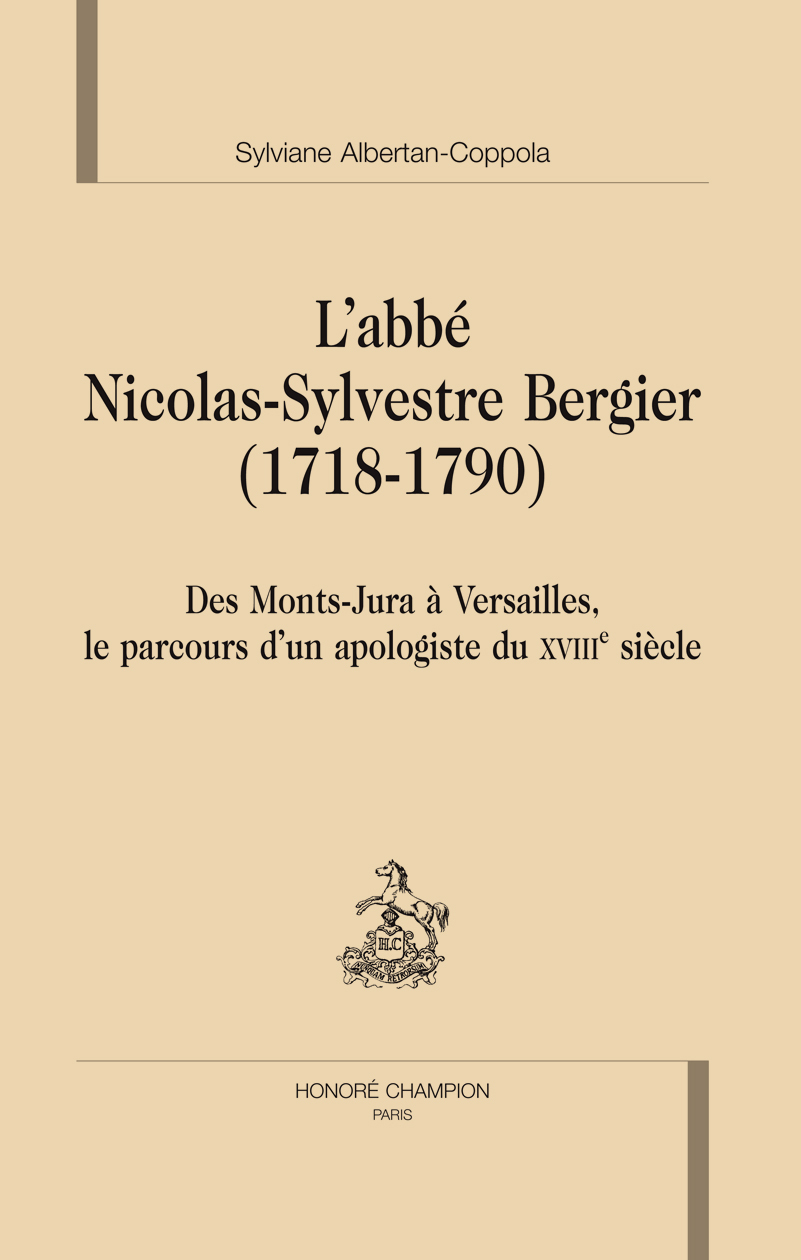 L ABBE NICOLAS-SYLVESTRE BERGIER 1718-1790