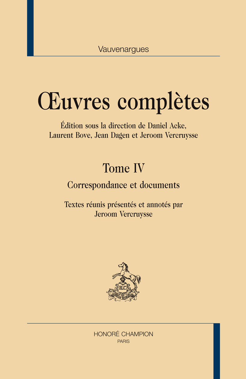 CORRESPONDANCE ET DOCUMENTS. OEUVRES COMPLETES TOME 4