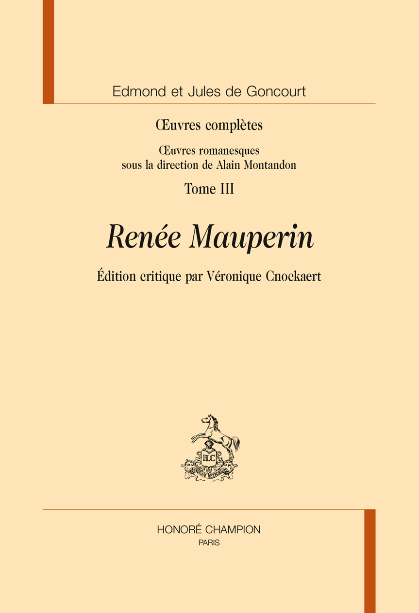 OEUVRES COMPLETES. TOME III. RENE MAUPERIN