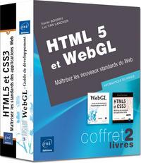 HTML5 ET WEBGL : MAITRISEZ LES NOUVEAUX STANDARDS DU WEB : COFFRET 2 LIVRES