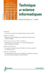 TECHNIQUE ET SCIENCE INFORMATIQUES RSTI SERIE TSI VOL. 26 N. 10/2007