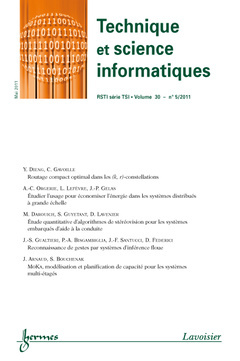 TECHNIQUE ET SCIENCE INFORMATIQUE RSTI SERIE TSI VOLUME 30 N  5 MAI 2011