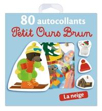 LA NEIGE - 80 AUTOCOLLANTS PETIT OURS BRUN