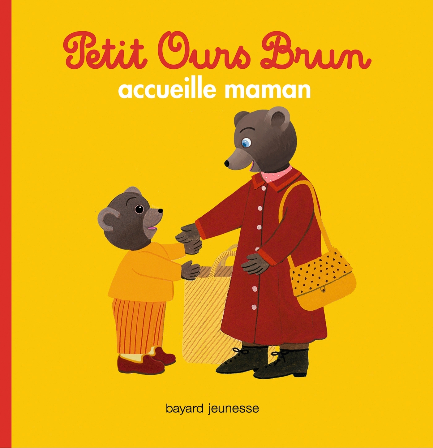 PETIT OURS BRUN ACCUEILLE MAMAN