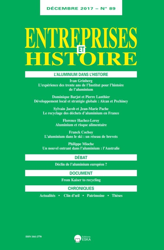 L'ALUMINIUM DANS L'HISTOIRE-EH 89-DECEMBRE 2017