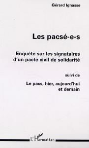 PACSE-E-S (LES) ENQUETE SURLES SIGNATURES D'UN PACTE C