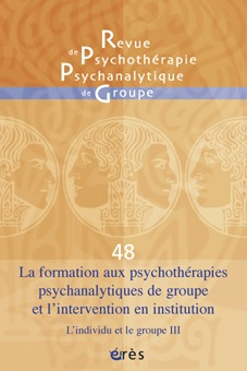 RPPG 48 - FORMATION AUX PSYCHOTHERAPIES PSYCHANALYTIQUES DE GROUPE