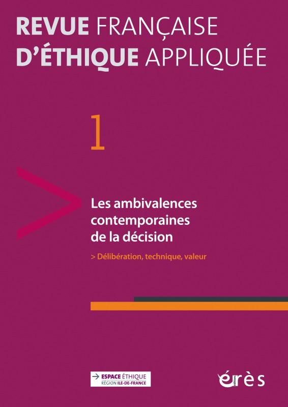 RFEA 01 - LES AMBIVALENCES CONTEMPORAINES DE LA DECISION