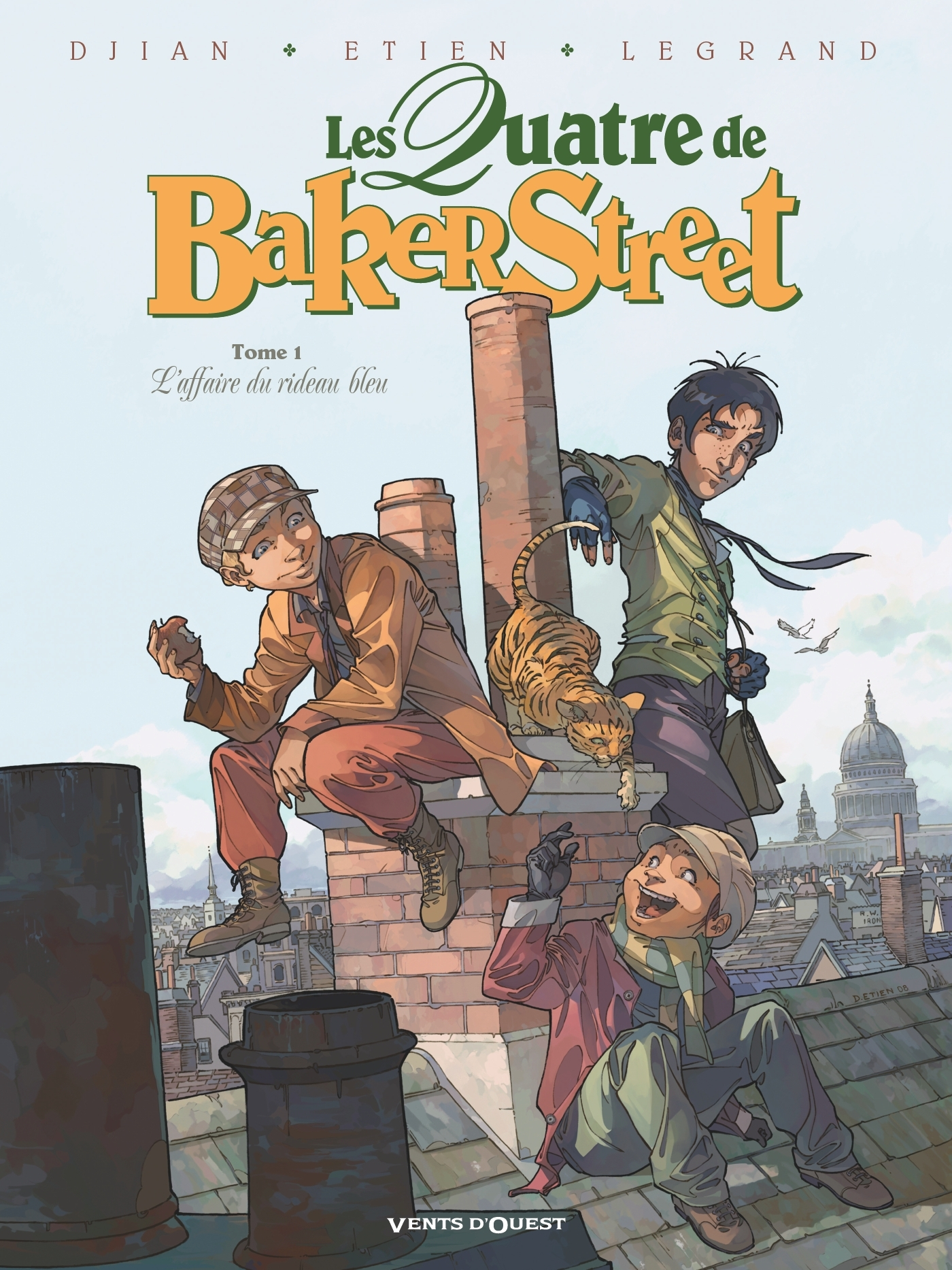 LES QUATRE DE BAKER STREET - TOME 01 - L'AFFAIRE DU RIDEAU BLEU