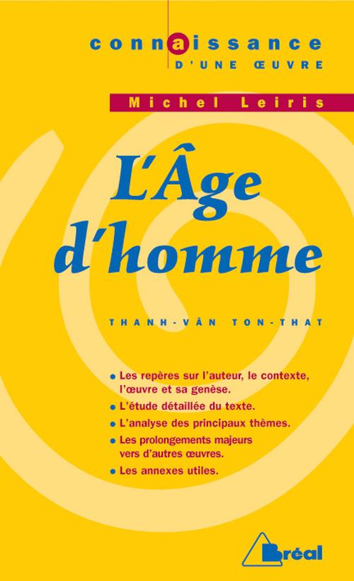 L AGE D HOMME - LEIRIS