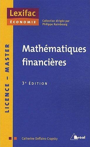 MATHEMATIQUES FINANCIERES 3EME EDITION